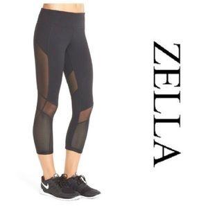 Zella Fusion Cropped Legging Black Size Large